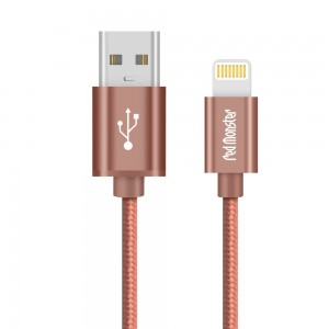 CABLE AIRNERGY NYLON™ LIGHTNING SYNC CHARGE CABLE ROSE GOLD (1.2M)