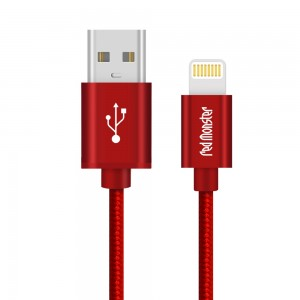 CABLE AIRNERGY NYLON™ LIGHTNING SYNC CHARGE CABLE RED (0.18M)