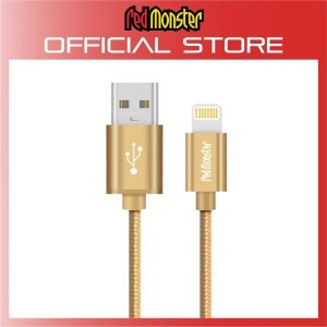 CABLE AIRNERGY NYLON™ LIGHTNING SYNC CHARGE CABLE GOLD (1.2M)