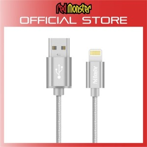 CABLE AIRNERGY NYLON™ LIGHTNING SYNC CHARGE CABLE SILVER (1.2M)