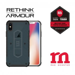 RETHINK ARMOUR Carbon Case for iPhone X - (Carbon Green)