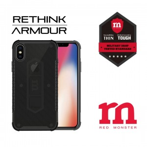 RETHINK ARMOUR Carbon Case for iPhone X - (Fibre Ash)