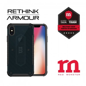 RETHINK ARMOUR Carbon Case for iPhone X - (Fibre Green)