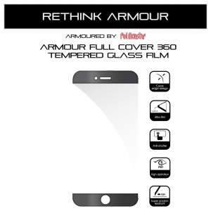 Armour Airnergy Full Cover 360 Tempered Glass iPhone 7 Plus / 8 Plus (Full Cover Black)