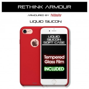 Liquid Soft Silicon iPhone 7 / 8 (Soft Red)