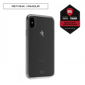 RETHINK ARMOUR Tough Naked - Hard Case for iPhone X (Ice)