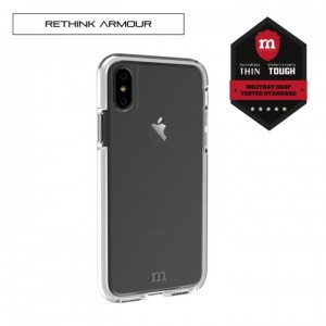 RETHINK ARMOUR Tough Naked - Tech Case for iPhone X (White)