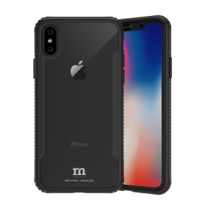 RETHINK ARMOUR Tough Naked Glass for iPhone X (Ice Black)
