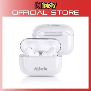 Red Monster Tough Naked Hard Clear Air Pods Pro Case