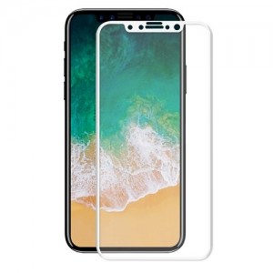 "iPhone 11 Pro/Xs/X (5.8"") Ultra HD Full Cover Tempered Glass Film (White)"