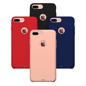 Liquid Soft Silicon iPhone 7 Plus / 8 Plus (Soft Red)