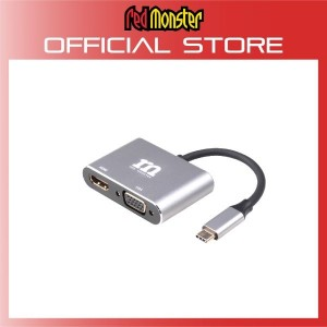 Red Monster RMHAM-04-GRY 2 in 1 USB-C HUB to HDMI + VGA