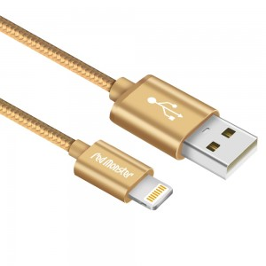 CABLE AIRNERGY NYLON™ LIGHTNING SYNC CHARGE CABLE GOLD (0.18M)