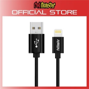 CABLE AIRNERGY NYLON™ LIGHTNING SYNC CHARGE CABLE BLACK (0.18M)