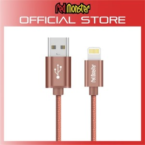 CABLE AIRNERGY NYLON™ LIGHTNING SYNC CHARGE CABLE ROSE GOLD (0.18M)
