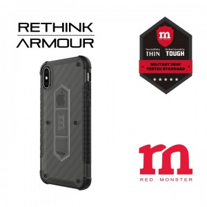 RETHINK ARMOUR Carbon Case for iPhone X - (Carbon Ash)