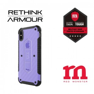 RETHINK ARMOUR Carbon Case for iPhone X - (Carbon Blue)