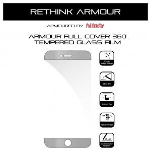 Armour Airnergy Full Cover 360 Tempered Glass iPhone 7 Plus / 8 Plus (Full Cover White)