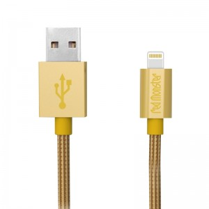 NYLON LIGHTNING USB 1.2M (Champagne Gold)
