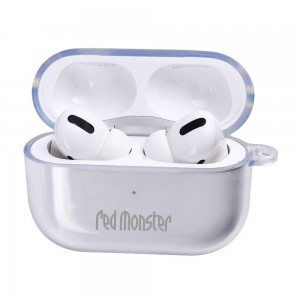 Red Monster Tough Naked Soft Clear Air Pods Pro Case